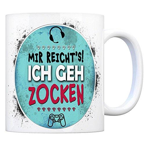 trendaffe - Kaffeebecher mit Spruch: Mir reicht's! Ich GEH zocken