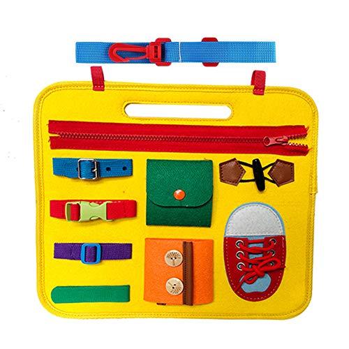 Giocattoli educativi Montessori Impara a vestire e scrivere Giocattoli e giocattoli sensoriali Abilità di base Giocattoli educativi per la prima infanzia per cinturino a figura singola 1 set giallo