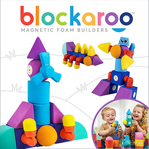 Blockaroo Magnetic Building Blocks (Soft Foam Blocks) STEM Toy