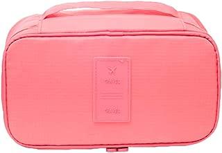 """Organizador de viaje, brasier, ropa interior, calcetines, bolsas, cosméticos, neceser, bolsa de almacenamiento, Rosado, 10.2"""" x 5.1"""" x 4.7"""""""