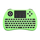 (Upgraded Version) Aerb 2.4GHz Mini Wireless Keyboard with Mouse Touchpad Rechargeable Combos for PC, Pad, Google Android TV Box and More (NonBacklit-Black)