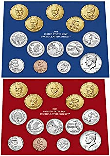 2015 P D US Mint Set 28 Coins in Original Packaging Brilliant Uncirculated