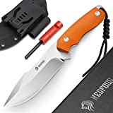 """NedFoss Survival Knife with Fire Starter and Kydex Sheath, 9.25"""" Full Tang Fixed Blade Camping Knife with Sheath Horizontal & Vertical, Bushcraft Knife with G10 Handle for Outdoor, Hunting, Fishing"""