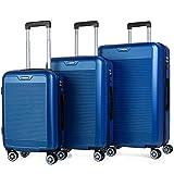ITACA - Juego Maletas de Viaje rígidas 4 Ruedas Trolley Set 55/67/76 cm abs. duras cómodas s y Ligeras. candado....