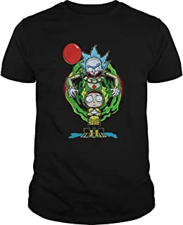 christmas shirts for women,Man Pennywise IT Rick and Morty Halloween shirt
