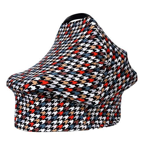 HLIYY Multi-usages Bébé Housse Elastique Canopy/Housse d'allaitement/Couverture Panier d'achat/Echarpe Durable Cadeau pour Bébé