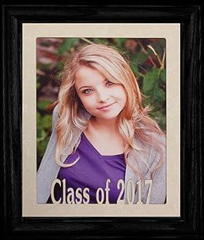 PersonalizedbyJoyceBoyce.com 8x10 Class of 2017 Portrait Senior/Graduate School Picture/Photo Keepsake Frame ~ Cream Mat with Black Frame