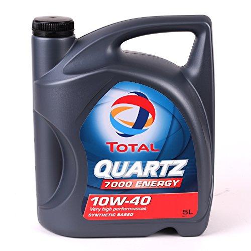 Total 5L Quartz 7000 Energy 10W-40 Aceites de Motor para Coches, 5 litros