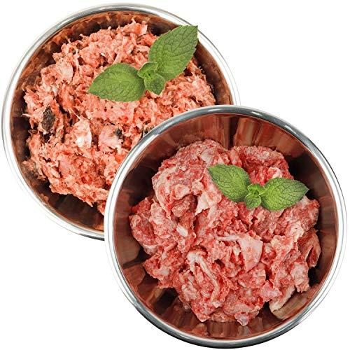 Barf-Snack naturbelassenes Rohfutter - Sparpaket mit Fisch & Hähnchen gesundes Frostfutter/Gefrierfutter für Hunde & Katzen