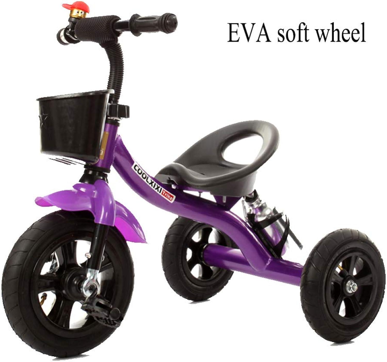 tiempo libre GSDZN - Niños Bebe Triciclo Triciclo para para para Niños 2 In1 con Barra Manija De Empuje Desmontable, El Cuerpo De Acero Al Cochebono, EVA Rueda Suave, 2-6years  te hará satisfecho