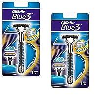 Gillette Sensor3 (Blue3) ホルダー替刃 - 日本国内のセンサーエクセルの替刃は使用可 2個 パッケージ (原産国:EU) [並行輸入品]