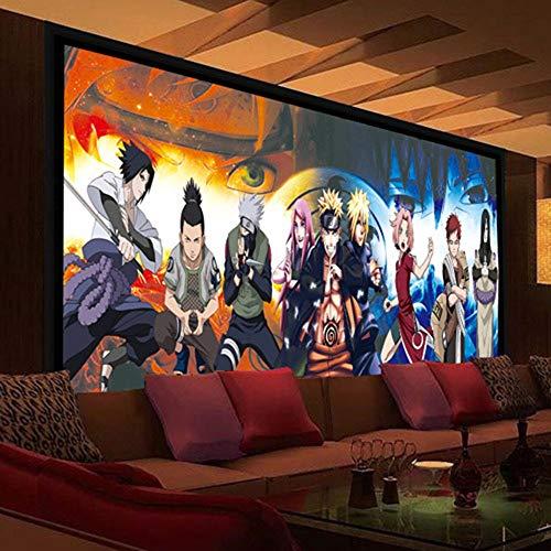 Tapeten Tapete 3D Foto Wand Anime Wandbild Schlafzimmer Schlafsaal Wand Wohnzimmer Hintergrund Tapeten Dekoration Naruto-200X150Cm