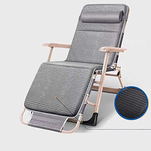 Tumbonas plegable de gravedad cero, silla de balcón, tumbona portátil de jardín, tumbona de camping, H