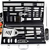 Romanticist 28PC Barbacoa de Exterior Kit de Utensilios Barbacoa Set - Utensilios para Barbacoa...