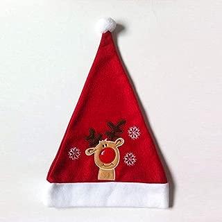 M&OURNM Cappello di Natale Ricamo Cappello di Natale Bambino Adulto Cappello di Cervo Milu Cappello di Natale per la decorazione del Costume di Babbo Natale Decorazione Della Festa di Natale