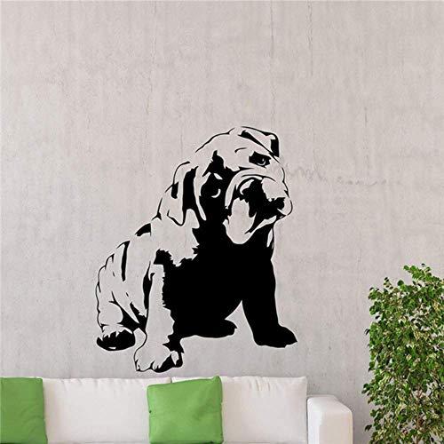 Wandaufkleber Bulldogge Wandtattoo Französisch Hund Niedliche Haustiere Vinyl Aufkleber Home Decor Abnehmbar 58X71Cm