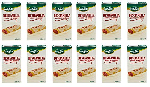 12x Trevalli Besciamella U.H.T Durable Classic Italian Bechamel Sauce Ready for Cooking 500ml Natural Ingredients