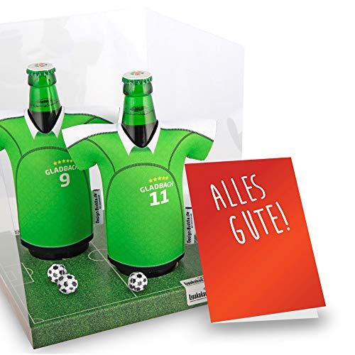 Der Trikotkühler | Das Männergeschenk für Gladbach-Fans | Langlebige Geschenkidee Ehe-Mann Freund Vater Geburtstag | Bier-Flaschenkühler by Ligakakao