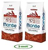 Monge - Natural Superpremium - all Breeds Puppy & Junior Agnello e Riso - Offerta 2 Sacchi da 12 kg