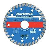 Silverline 950392 - Disco para corte de mármol (110 x 2,7 x 20 mm, borde continuo acanalado)