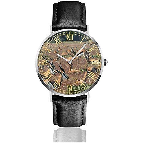 Ver Manada gacelas Animales creativos Relojes de Pulsera de Cuarzo de Acero...