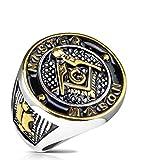 Tapsi´s Coolbodyart®| Siegelring Edelstahl Masonic Freimaurer Breite 23mm 66(21)