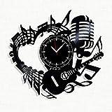Music Vinyl Record Clock - Wall Clock Music - Best Gift for Music Lover - Original Wall Home Decor (Vinyl Clock)