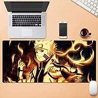 ナルト-ナルト-シリーズ/うずまきナルトオレンジパターン/アニメゲームマウスパッド/ゴム素材滑り止めで精度を向上デスクトップマット/Eスポーツ、オフィス、家庭用コンピューターキーボードパッド
