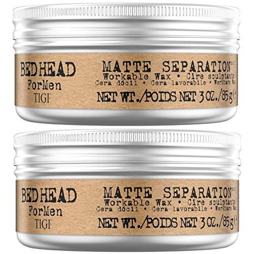 TIGI Bed Head for Men Matte Separation Stylingwachs, 2er-Pack, 170 ml