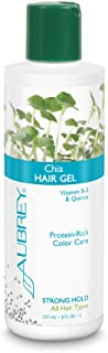Aubrey Organics Chia Hiar Gel with Vitamin B-5 NPA Certified 8 oz Conditioning gel adds body and a firm, natural hold and protects hair from heat styling damage