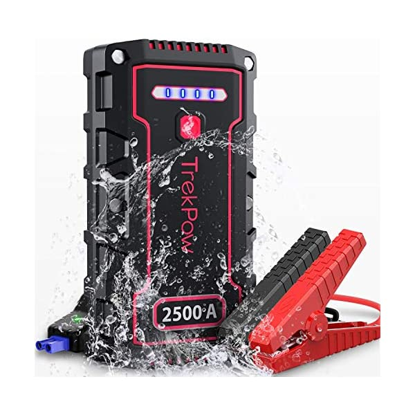 Car Battery Jump Starter, TrekPow TJ2500 2500A Peak 18000mAh Portable Jumper Box(Up...