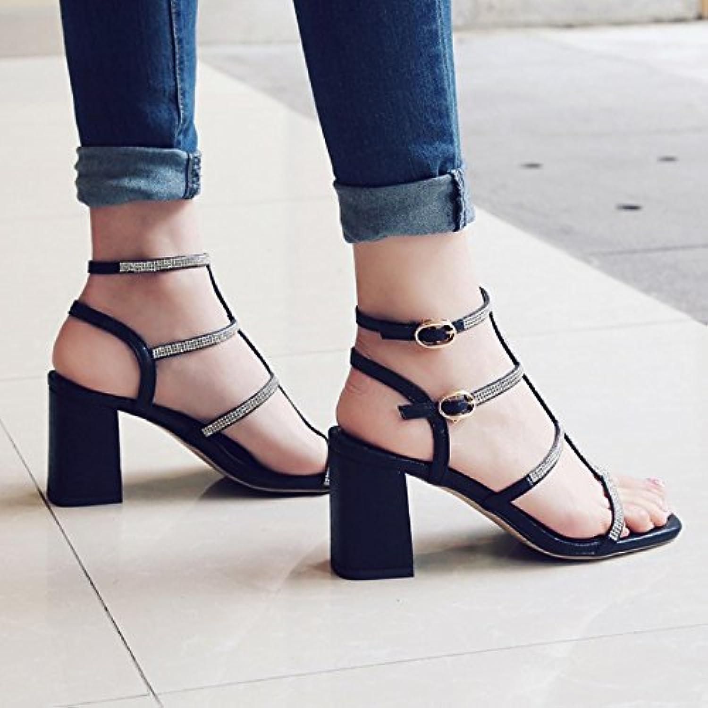 WHW Women's Summer Fall Fabric Outdoor Dress Casual Flat Heel Sandals
