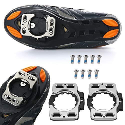 Convenientes Clases de Zapatos de Ciclismo, Materiales de Calidad Servicio Cubierta de Vida Adaptador Convertidor de Aluminio T7075 (Negro + Plata)