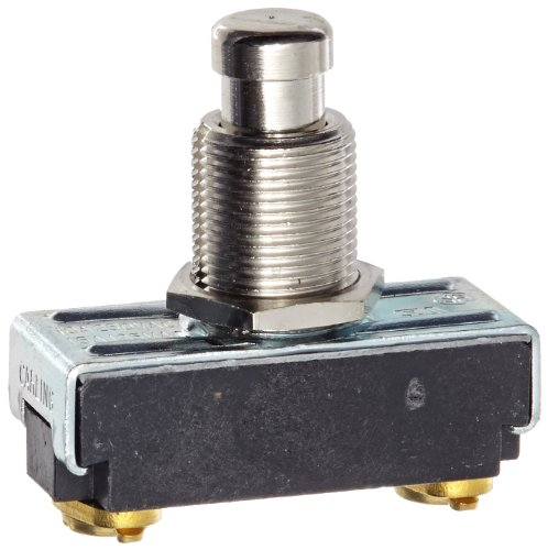 Push Button Switch, On Off Circut Function, SPST N.C, Brass/Nickel Actuator, 15/10 amps at 125/250 VAC