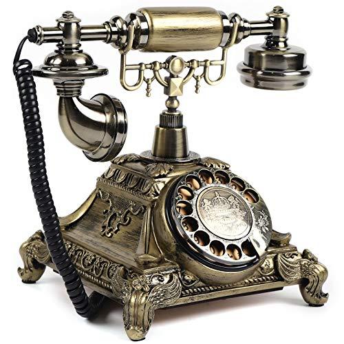 Teléfono vintage retro teléfono rotatorio antiguo dial teléfono teléfono con cable escritorio teléfono casero