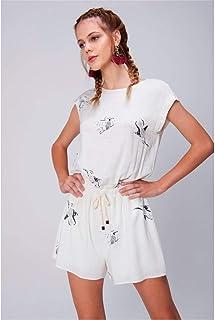 feb8ac08578a Moda - Branco - Macacões e Macaquinhos / Roupas na Amazon.com.br