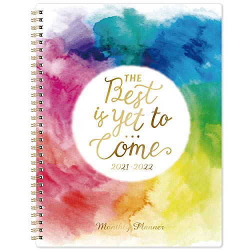 """2022 Monthly Planner - 18-Month Planner with Tabs & Pocket, Contacts and Passwords, 8.5"""" x 11"""", Thick Paper, Jul. 2021 - Dec. 2022, Twin-Wire Binding - Watercolor Ink by Artfan"""