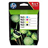 HP 3YP35AE 963XL High Yield Original Ink Cartridge, Black/Cyan/Magenta/Yellow, Multipack