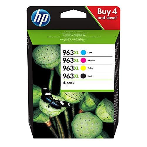 HP 3YP35AE 963XL High Yield Original Ink Cartridge, Black/Cyan/Magenta/Yellow, Pack of 4