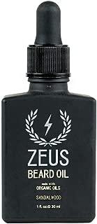 ZEUS Beard Oil made with Organic Oils - Natural Oil for Men in Gift Tin - Sandalwood