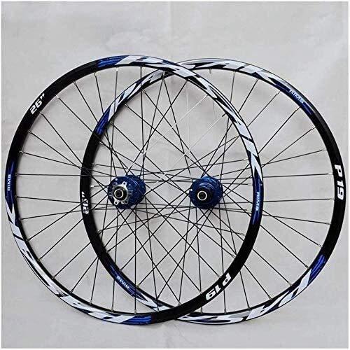 Ruedas De Bicicleta,llantas bicicleta Bicicleta de montaña juego de ruedas, 29/26 / 27.5 rueda de bicicleta pulgadas de aleación de doble pared de aluminio (delantero y trasero) llanta rápida disco li