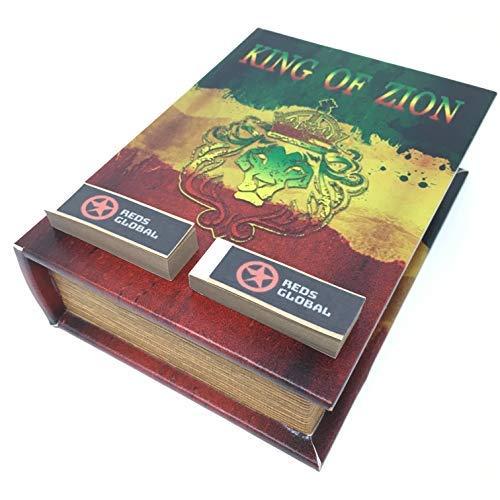 Original Kavatza Spliff Box - Stazione Di Rollaggio Mini Libro (King of Zion)