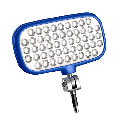 Metz mecalight LED-72 smart in Blau   LED-Videolicht für Smartphones & Tablets mit 51 LEDs und 72 LUX, eigenen Lithium-Polymer-Akku, 3 Modi, für Fotos oder Videos geeignet etc.