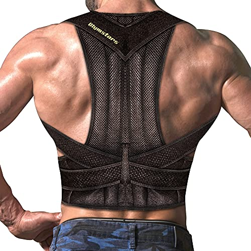 Olymstars Haltungskorrektur für Männer und Frauen, Einstellbare Rücken Geradehalter,Können Nacken- und Schulter-Schlüsselbeinschmerzen Wirksam Lindern