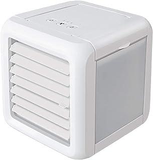 seveni Aire Acondicionado, 4 en 1 Móvil Climatizador Evaporativo Ventilador Humidificador Purificador, con Ruedas y Tanque de Agua 5L, 3 Velocidades, Temporizador, Mando a Distancia Hogar Oficina(A)