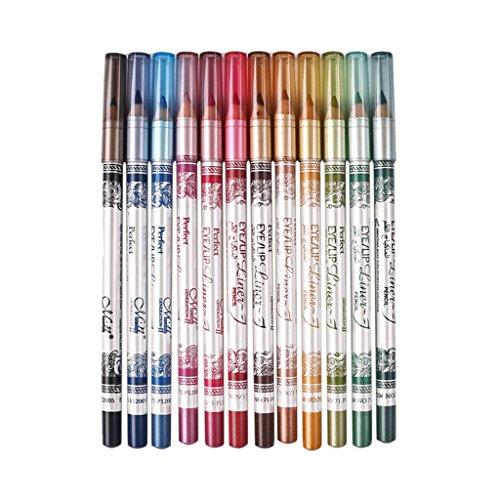 Fenteer 12pcs Crayon à Lèvres Longue Durée