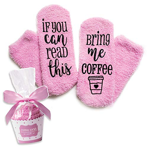 Luxury Coffee Socks with Cupcake Gift Packaging: If You Can Read This Bring Me Coffee Sock - Funny...