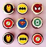 Lot de 48 décorations prédécoupées en papier comestible pour cupcakes Motif...