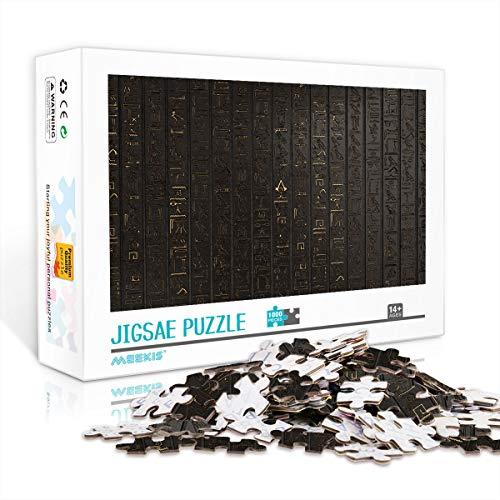 YITUOMO 1000 Stück Puzzles für Erwachsene Puzzlesets Assassin's Creed: Origins. Piktogramme an der Wand Klassisches Puzzle Herausforderndes Puzzlespiel , Große Geschenkauswahl 38x26cm