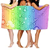 XCNGG Toallas de baño Toalla de Playa Burbujas de Colores para niños Adultos Toallas para Nadar Viajes Deportes Escuela Toallas de Microfibra para Hotel Regalos de Verano 31 X 51 Pulgadas